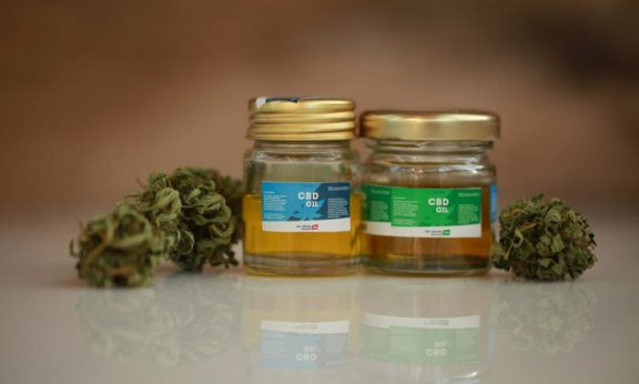 cbd-oil-in-jars-which-may-help-menopause-symptoms